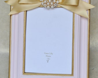 Pink Nursery Gift Girl Picture Frame -CHOOSE your Size 4x6, 5x7, 8x10