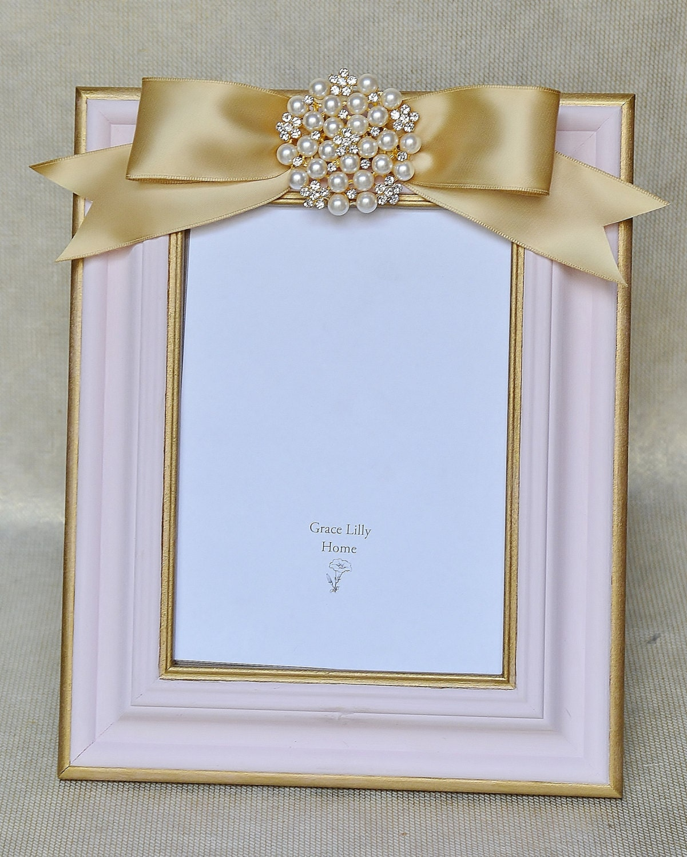 baby gift picture frame pink shower newborn new girl custom