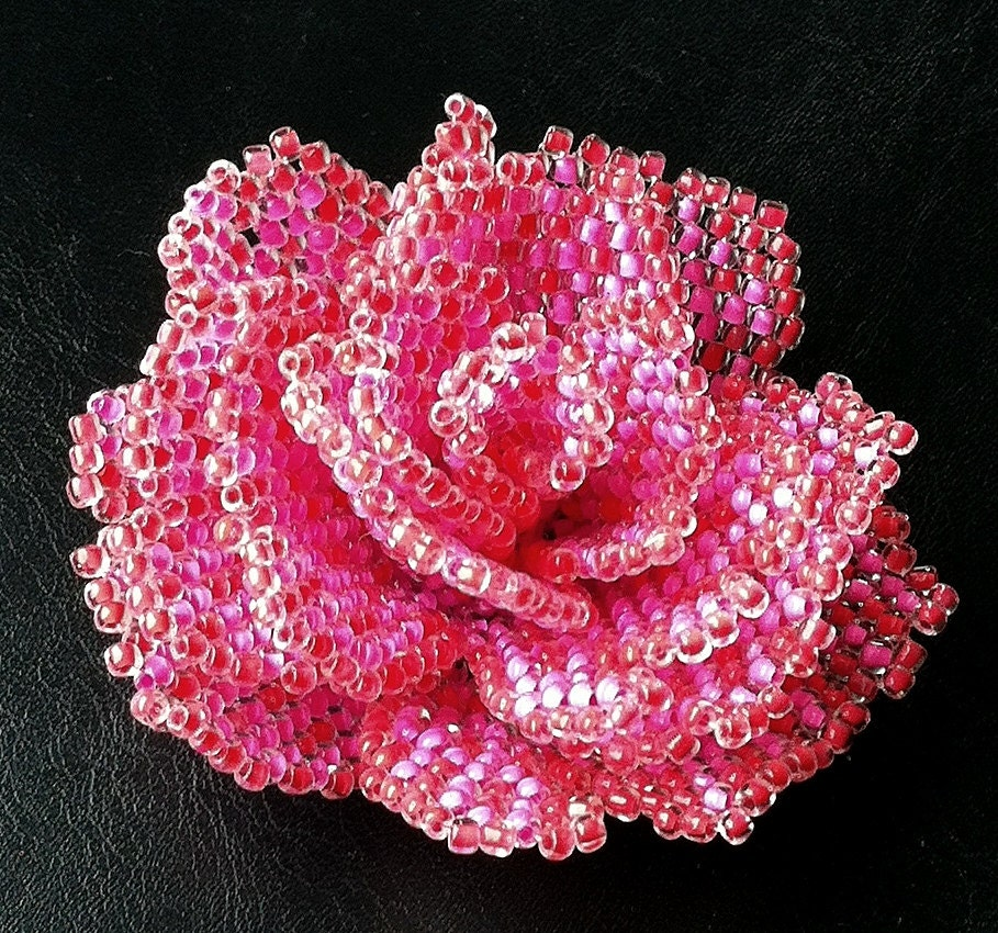 Pattern With Photos For Peyote Beaded Rose How To Bead A