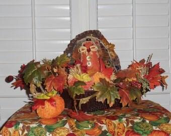 Colorful, Fall, Folk, Turkey Decoration