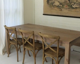 Reclaimed Wood Parsons Table // Rustic Wood Kitchen Table //  Rustic Wood Table