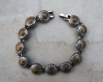 Vintage Silver and Gold Tone Bracelet