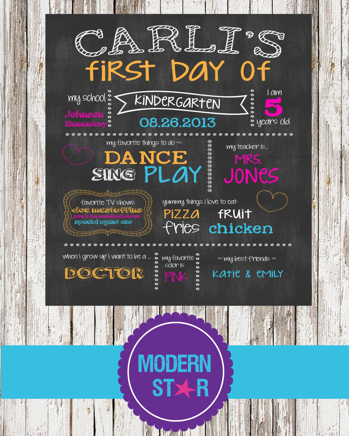 Decisive image for first day of school printable signs