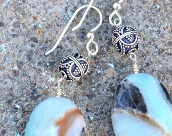 Amazonite & Silver Earrings