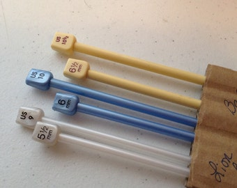 Boye Balene, Lion Brand, Plastic, Knitting Needles, Single Point, 14 inch, US SIzes 6 to 13, Small Lots