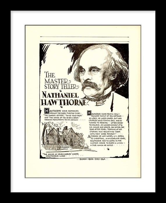 a short biography of the author nathaniel hawthorne Nathaniel hawthorne (born nathaniel hathorne july 4, 1804 – may 19, 1864) was an american novelist and short story writer nathaniel hathorne was born in 1804 in the city of salem, massachusetts to nathaniel hathorne and elizabeth clarke manning hathorne he later changed his name to hawthorne, adding a w t.