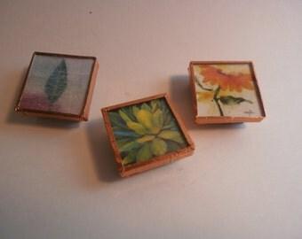 Magnets, Handmade Floral Themed Magnets, Frig Magnets, Custom Magnets, Themed Magnets, Micro Slide Magnets, Flower Magnets, Office Magnets