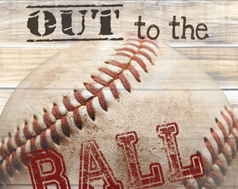 MA847A - Take me out to the ballgame, baseball lovers / Textured, finished wall decor ready to hang by Marla Rae