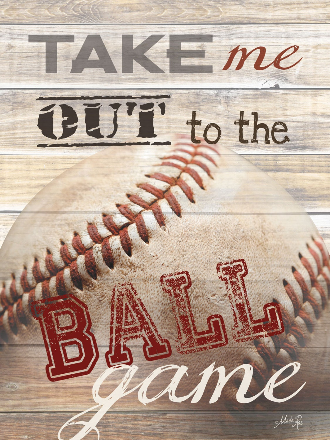 MA847A Take Me Out To The Ballgame Baseball Lovers