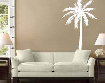 "Palm Tree Vinyl Wall Decal Sticker 43""h x 22""w"