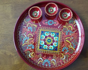 Popular items for decorative plate on etsy for Aarti dish decoration