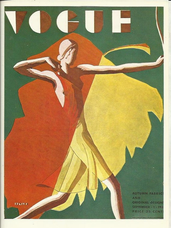 vogue magazine cover 1932 lady archer archery bow arrow fashion