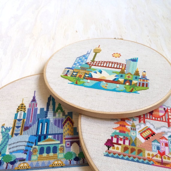 3 Pretty Little City Patterns