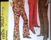 McCall's 9687  Men's Pants Set  Size 30