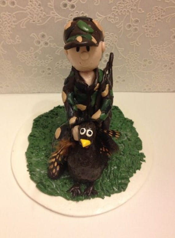 turkey hunter wedding cake topper custom cake topper with a by 21294