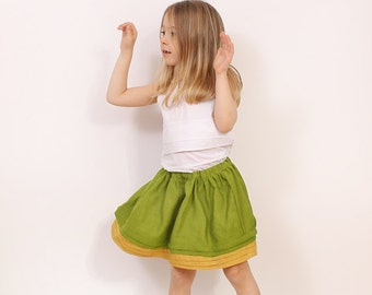 Simple pleat SKIRT pattern - girls twirl skirt sewing pattern pdf - childrens sewing patterns - INSTANT DOWNLOAD