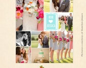 INSTANT DOWNLOAD 16 x 20 Collage & Blog Board, Storyboard Photoshop templates - BL027