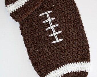 Newborn Football Cocoon and Hat Set