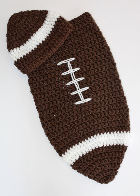 Items Similar To Newborn Football Cocoon And Hat Set On Etsy
