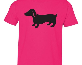 Black Dachshund - Doxie - Hot Dog - Short Sleeve Toddler T-Shirt - Great Dog Lover Gift - Choice of Colors