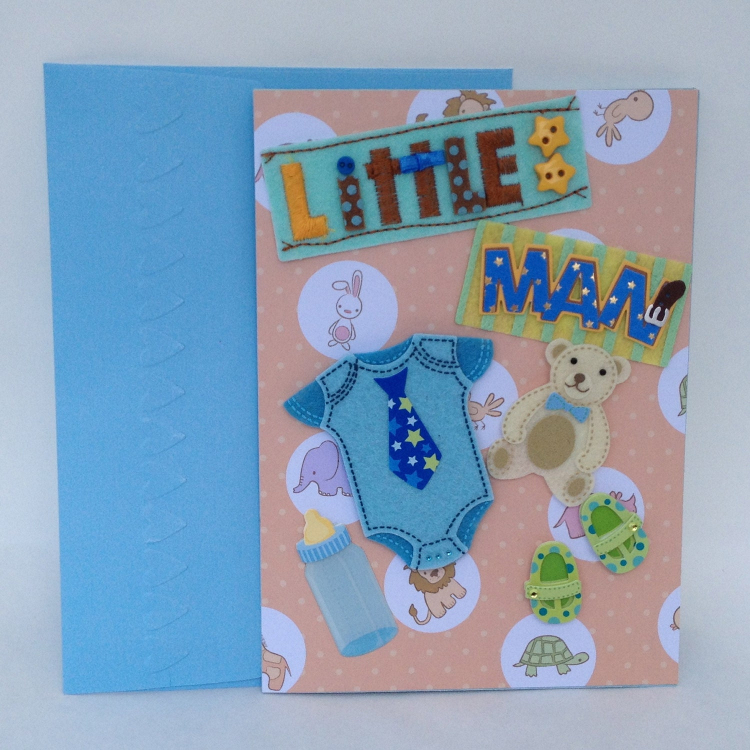 Items Similar To Baby Shower Congratulations Baby Boy Card On Etsy