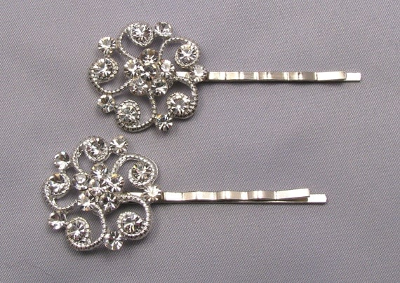 Rhinestone Bobby Pins Crystal Hair Pins Decorative Jeweled
