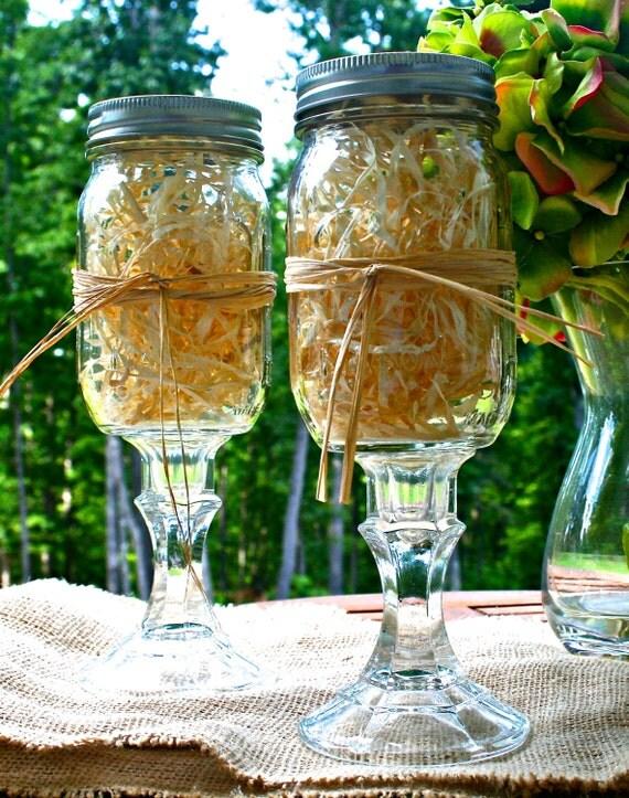 items similar to mason jar wine glass redneck wine glass hillbilly wine glass southern sipper. Black Bedroom Furniture Sets. Home Design Ideas