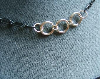 BDSM Day Collar, Discreet Day Collar, Sterling Silver Day Collar, O Ring Day Collar, Submissive Collar, Slave Collar, Submissive Jewelry