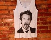 ROBERT DOWNEY Jr Tank Top | Mugshot Winking Iron Man Tanktop | Celebrity Clothing