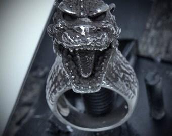 "Godzilla ""Gojira"" Sterling Silver Ring"