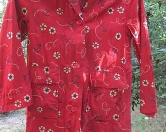 1940s or 50s Vintage girl's raincoat from Arkansas Ozarks