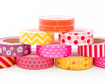 Washi Tape Lucky Dip - 5 Rolls of HOT Colours - Washi Tape in Melbourne, Australia - 50 metres total