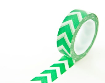 Washi Tape Green - Chevron Arrow Planner Tape - Washi Tape Supplies in Australia