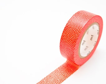 mt Masking Tape - Red Dot Masking Tape - Persimmon Red Washi Tape