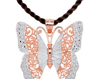Butterfly, Butterfly charm, Butterfly Pendant, Butterfly jewelry, Gold Butterfly, Butterfly necklace, 14k butterfly