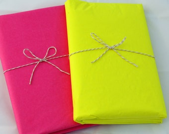 Neon Tissue Paper | Hot Pink & Neon Yellow Tissue Paper in Bulk - 48 Sheets
