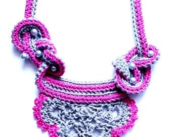 Crochet Necklace Pattern, Necklace Crochet Pattern, Crochet Jewelry Pattern, Jewelry Crochet Pattern, Crochet Cord Necklace Pattern