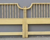 Pr Faux Bamboo Twin Headboards Mid Century