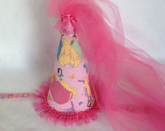 Disney Princess Inspired Birthday Party Hat (Free Personalization)