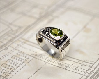 "Sterling Silver Industrial Ring ""Certitudondum"" 