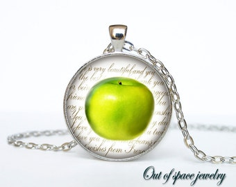 Apple necklace Apple necklace pendant Apple jewelry fruit necklace