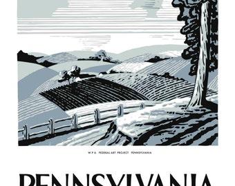 Pennsylvania Farming WPA Poster Print