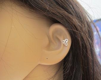 Sterling Silver Celtic knot Cartilage Earring, cartilage stud earring, Celtic Jewelry, Helix Earring, Tragus Earring, sister gift,