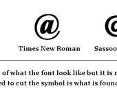 Wooden symbol, the at sign, ampersat, Reserved listing