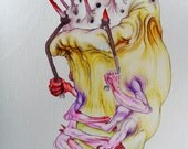"A3/A4 Digital Art Print, Archival Ink - SIGNED By Artist. ""Fruit"""