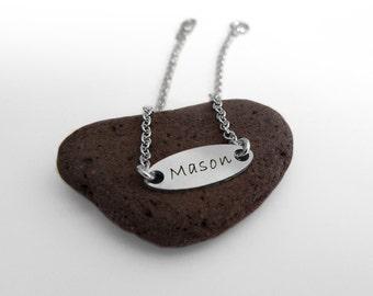 Custom Name Bracelet, Monogram bracelet, ID Bracelet, Child Name Bracelet, Silver Name Bracelet, My Name Bracelet, Personalized Bracelet.