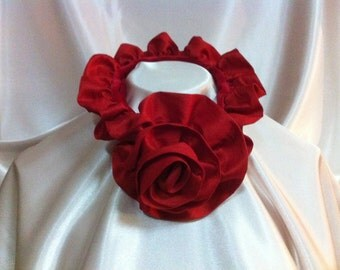 Tuck-a-Rose Scarf - Bright Red