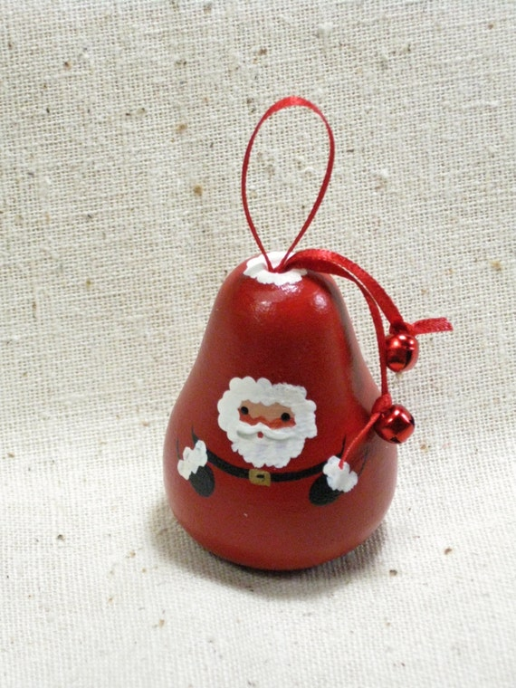 Santa Pear Shaped Christmas Ornament by TheCountryTouch on ...