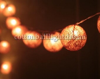 20 Brown colors cotton ball String Lights,lanterns