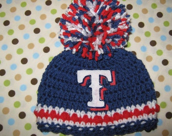 Crochet Beanie Baby Hat Los Angeles Dodgers By